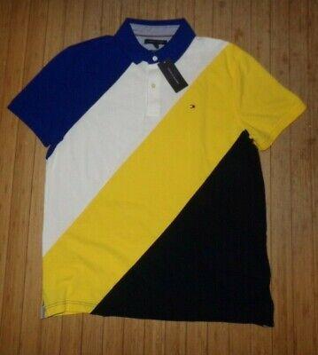 NWT MENS Tommy Hilfiger S/S Polo Shirt~Slim~Multicolor~LRG