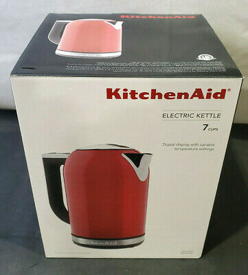 KitchenAid 1.7L Electric Kettle with LED Display, Empire Red (KEK1722ER)