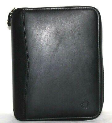 Franklin Covey Leather 6x1.25 Binder Zip Space Maker Organizer 6x7.75x2 New