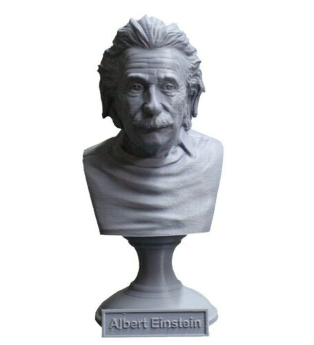 Albert Einstein 5 inch Famous German Mathematician 3D Printed Bust Art FREE SHIP