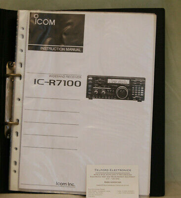Usado, iCom. IC-R7100 Wideband Receiver Instruction Manual Photcopy segunda mano  Embacar hacia Spain