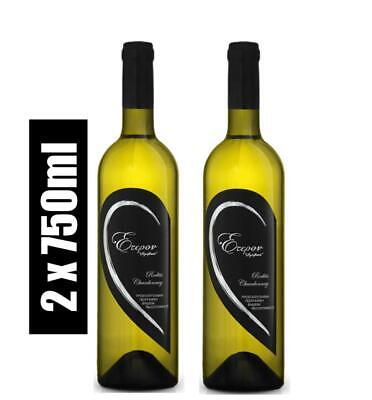 Kintonis Eteron Weiß Wein trocken 2x750ml Greek Wine 70% Rodite 30% Chardonnay