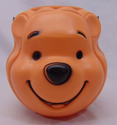 Disney WINNIE THE POOH shaped HALLOWEEN TRICK OR TREAT Candy Pail Bucket Vintage