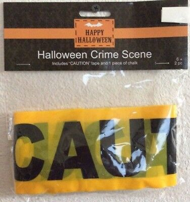 Halloween Crime Scene Caution Tape 2 Piece Set -