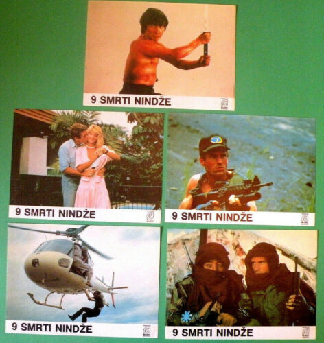 NINE DEATHS OF THE NINJA 1985 SHO KOSUGI BRENT HUFF MARTIAL ARTS RARE LOBBY CARD