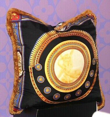 GIANNI VERSACE Vintage 1990's X-LARGE Medusa Silk Angel Cushion 90CM Down Pillow