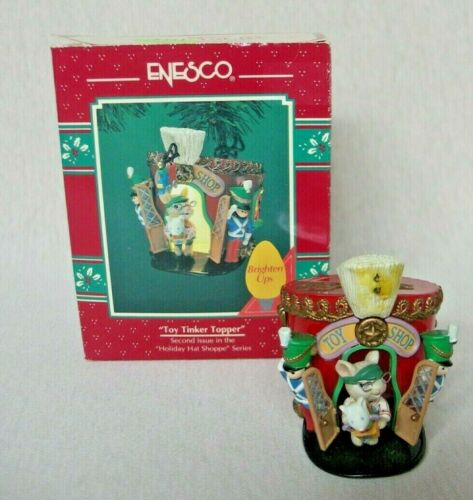 """ENESCO TREASURY ORNAMENT """"TOY TINKER TOPPER""""  2nd HOLIDAY HAT SHOPPE SERIES 1994"""