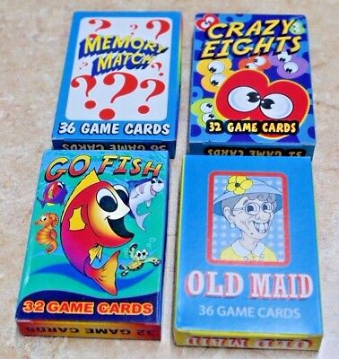 1-Classic Children's Card Games~Memory Match~Crazy Eights~Go Fish~Old Maid--Wow! (Old Card Games)