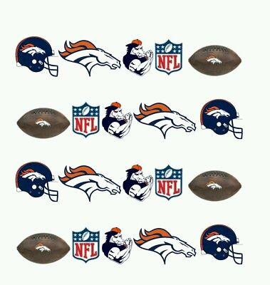 NFL Denver Broncos Nail art (water decals) Broncos Nail Decals - Denver Broncos Nail Decals