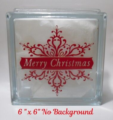 Merry Christmas Snowflake Decal sticker for DIY 8
