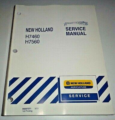 New Holland H7460 H7560 Disc Mower Conditioner Service Repair Manual Original Nh