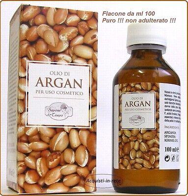 OLIO DI ARGAN PURO AL 100%    CONFEZIONE DA 100 ml       NON ADULTERATO !!!