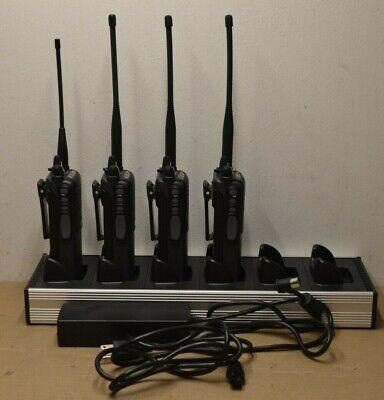 Lot Of 4 Ef Johnson Vp900 Dual Band Portable Radio Six Units Charger