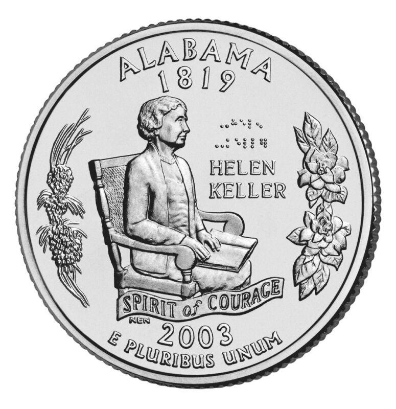 2003 P Alabama State Quarter BU