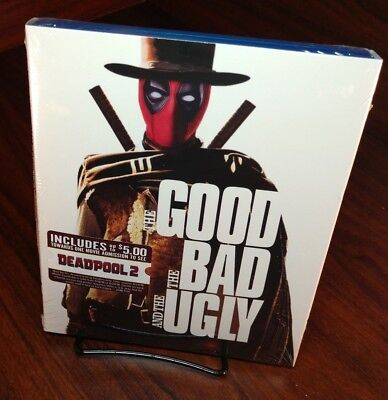 The Good Bad   Ugly Blu Ray Deadpool Photobomb Cover New Free S H With Tracking