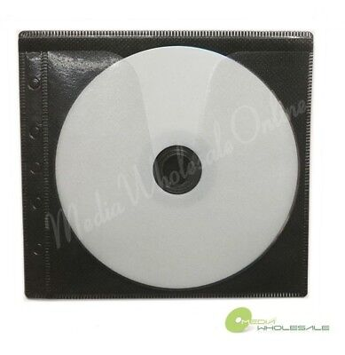 100 Non Woven CD DVD Black Color Double Sided Plastic Sleeve - HOLD 200 discs