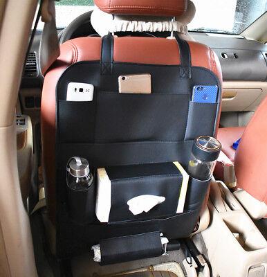 2018 Car Seat Back Multi-Pocket Leather Storage Bag Organizer Holder (Millenia Stores)