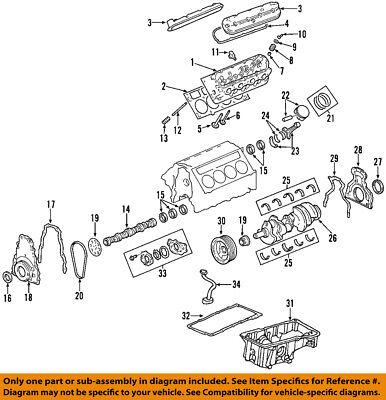 GM 12589016 Seal, Camshaft/Engine Camshaft -