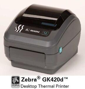 Zebra GK420D Direct Thermal Label Printer GK42 202510 000 ...