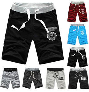 herren damen sommer shorts freizeit kurze hosen sportbekleidung schlabber hosen ebay. Black Bedroom Furniture Sets. Home Design Ideas