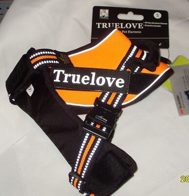 TRUELOVE Outdoor Reflective Dog Vest No-pull Orange Harness with Handle Small