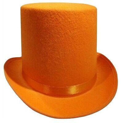 Top Hat Felt (Dumb and Dumber Orange Tall  Felt Top Hat Lloyd Christmas Costume)