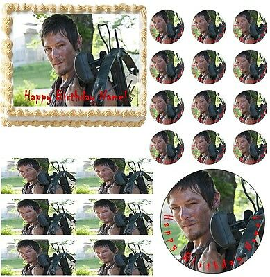 Walking Dead DARYL DIXON Party Edible Cake Topper Frosting Sheet-All Sizes! - Walking Dead Cakes