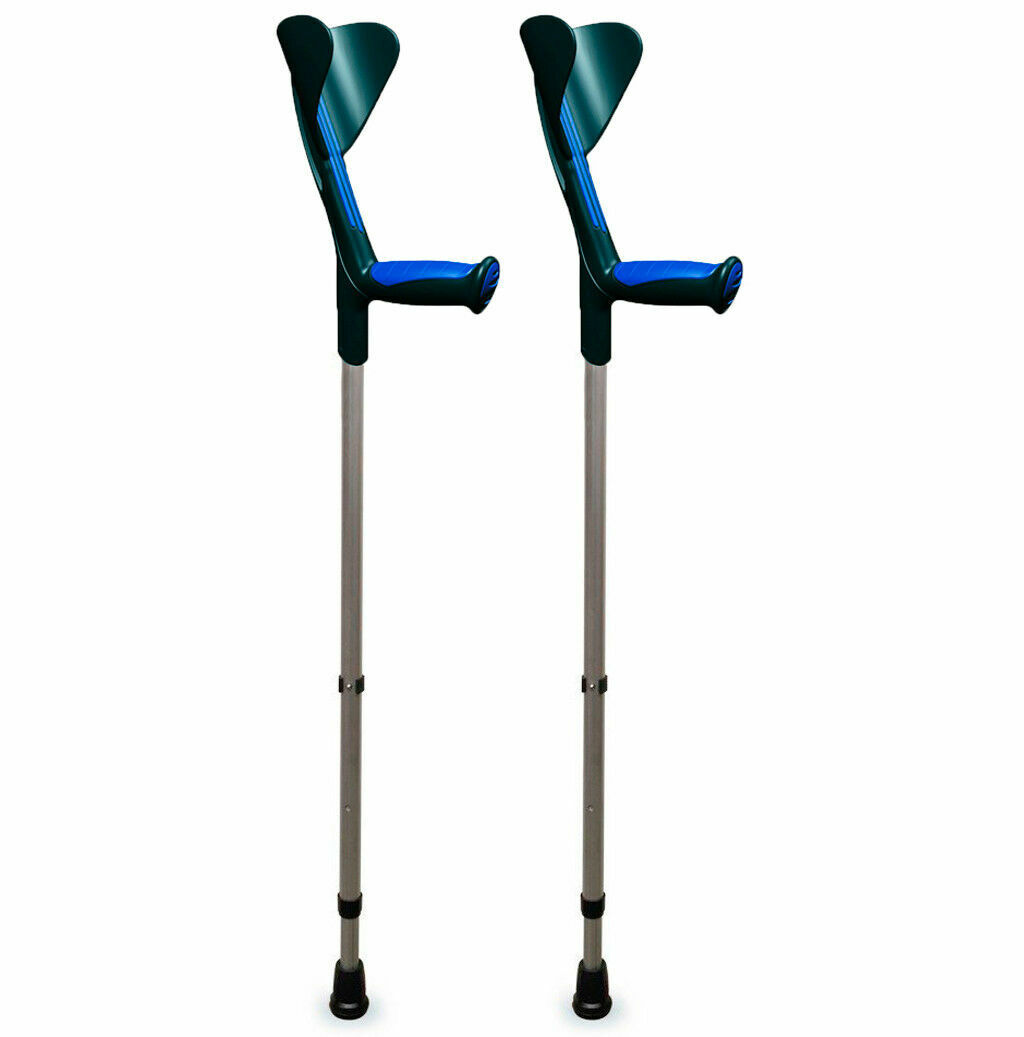 ORTONYX Walking Forearm Crutches Ergonomic Handle with Comfy