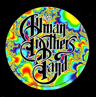 The Allman Brothers Band Fractal Sticker Decal Hippie Rock n Roll Bong Yeti Cup (Rock N Roll Home Decor)