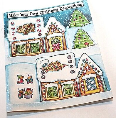 Christmas Activity Book, Make Your Own Decorations, Weekly Reader 1999