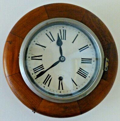 Mahogany -Dial / Station / School- Timepiece / Clock -American Ansonia Movement