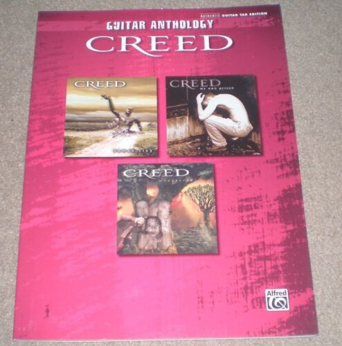 CREED Anthology GUITAR TAB SONGBOOK RARE