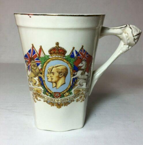 Vintage King George VI & Elizabeth Crown Ducal Coronation Mug Made in England