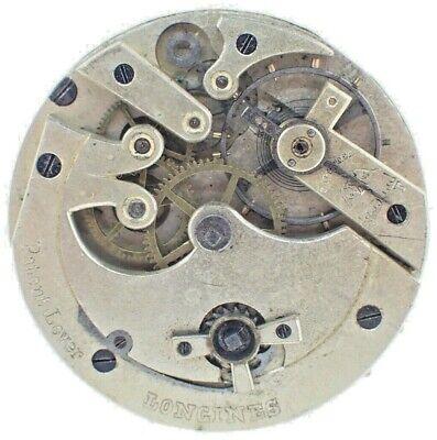 Antique 44mm Longines 11J Key Wind Pocket Watch Movement Swiss for Parts
