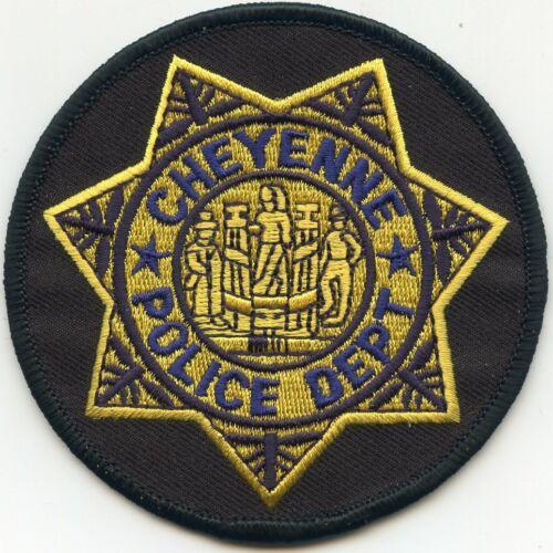 CHEYENNE WYOMING WY round POLICE PATCH