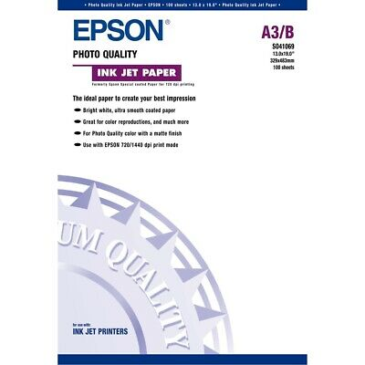 Epson S041069 Inkjet Photo Quality Paper A3 B 13x19 Inches 100 Sheets ()