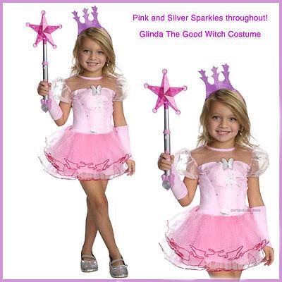GLINDA GOOD FAIRY COSTUME TUTU WITCH OZ TIARA GLOVES DRESS XMAS PARTY ANGEL PNK  - Good Angel Costumes