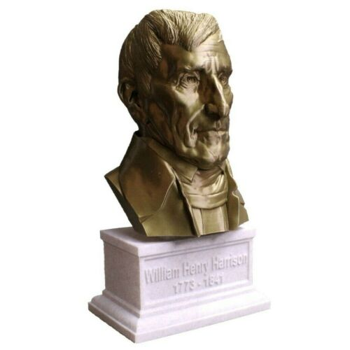 William Henry Harrison 12 inch 3D Printed Bust US President #9 Art FREE SHIPPING