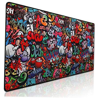 Mouse Pad Large Gaming Desk Mat Graffiti Soft Best Keyboard Mousepad For Gamers