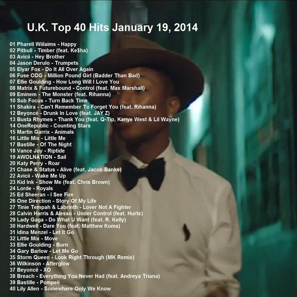 Details about Promo Video DVD UK Top 40 Hits Jan 19 2014 FULL Pop Chart in  order Only on Ebay