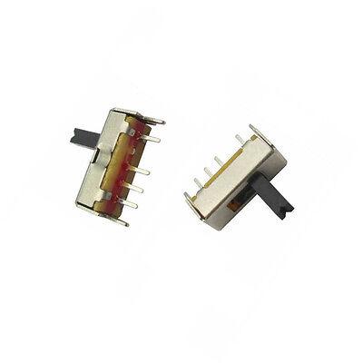 20pcs Ss13d07 Slide Switch 1p3t 4pin W Handle 6mm 3 Position F Diy Electronic K