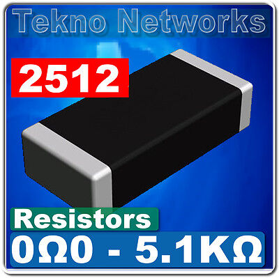 Smd Smt 2512 Power Resistors - 40pcs  Range 0 - 1m Ohm