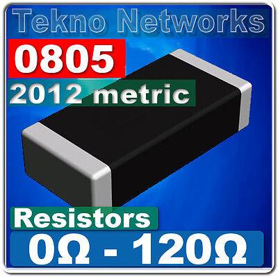 0805 2012 Metric Smd Smt Resistors -100pcs Range 0 - 120 Ohm