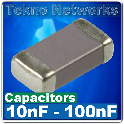Smdsmt 0402060308051206 Ceramic Capacitors -100pcs Range 10nf - 100nf