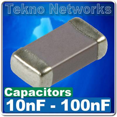 Smdsmt 0402060308051206 Ceramic Capacitors -50pcs Range 10nf - 100nf
