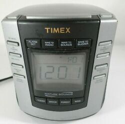 Timex Nature Sounds T300B Digital Tuning Alarm Clock AM FM Radio, Timex T300B Cl
