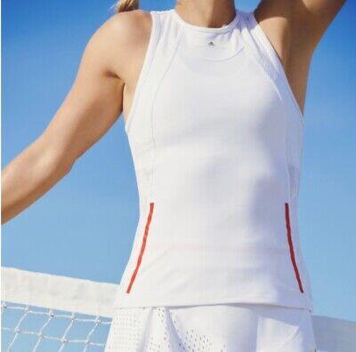 EUC Adidas Stella McCartney Barricade Tennis Top Workout Tank Womens White
