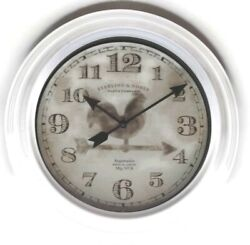 White Mainstay Sterling & Noble 11.5 Battery Operated Wall Clock