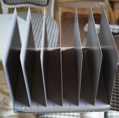 Rare Mid-century Vintage 6-slot Office Desk Paper File Holder