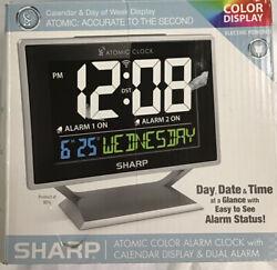 Used - Sharp SPC569 Atomic LCD Tabletop Alarm Clock